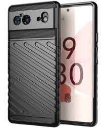 Google Pixel 6 Hoesje TPU Thunder Design Back Cover Zwart