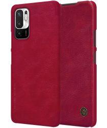 Nillkin Qin Xiaomi Redmi Note 10 5G / Poco M3 Hoesje Book Case Rood
