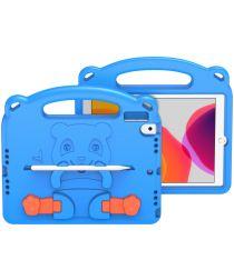Dux Ducis Panda Apple iPad 10.2 Kinder Tablethoes met Handvat Blauw