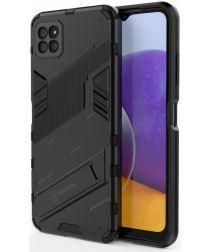 Samsung Galaxy A22 5G Hybride Hoesje met Kickstand Zwart
