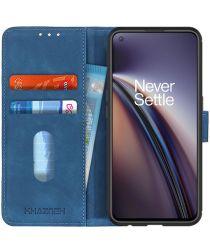 KHAZNEH OnePlus Nord CE 5G Hoesje Retro Wallet Book Case Blauw