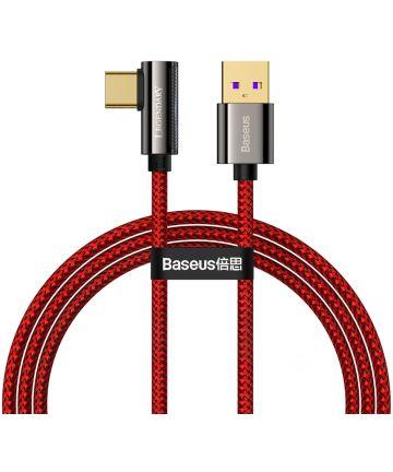 Baseus Legend Series USB naar USB-C Kabel 66W Rood 2M Kabels