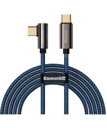 Baseus Legend Series USB-C naar USB-C Kabel 100W Blauw 2M Kabels