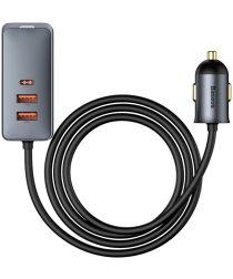 Baseus Auto Snellader 120W met 2 USB en 2 USB-C Fast Charge Poorten