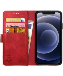 Rosso Element Apple iPhone 12 / 12 Pro Hoesje Book Cover Rood