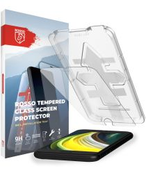 Rosso Apple iPhone SE 2020 Tempered Glass met Installatietray