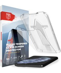 Rosso Apple iPhone 11 Pro Max Tempered Glass met Installatietray