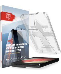 Rosso Samsung Galaxy S21 Tempered Glass Fingerprint en Case Friendly
