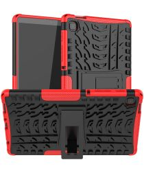 Samsung Galaxy Tab A7 Lite Hoes Robuust Hybride Back Cover Rood