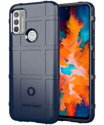 Motorola Moto G50 Hoesje Shock Proof Rugged Shield Blauw