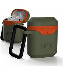 Urban Armor Gear Apple AirPods Hoesje Hard Case Groen Oranje
