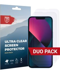 Rosso Apple iPhone 13 Mini Ultra Clear Screen Protector Duo Pack