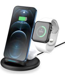 Dux Ducis 3-in-1 Draadloze Oplader 15W voor Smartphone/AirPods/Watch