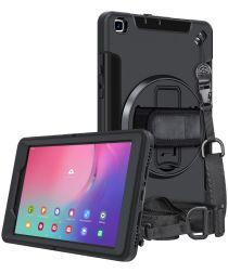 Samsung Galaxy Tab A 8.0 (2019) Hoes 360° Kickstand Back Cover Zwart