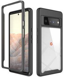 Google Pixel 6 Pro Hoesje Volledig Schokbestendig Hybride Cover Zwart