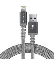 Dux Ducis X1 2.4A USB naar Apple Lightning Kabel MFi 1M Grijs