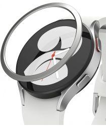 Ringke Bezel Styling Galaxy Watch 4 44MM Randbeschermer Staal Zilver
