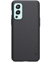 Nillkin Super Frosted Shield OnePlus Nord 2 5G Hoesje Back Cover Zwart