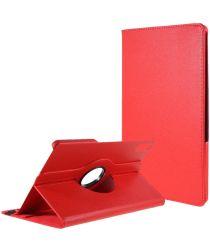 Lenovo Tab P11 Pro Hoes 360 Graden Draaibare Book Case Rood