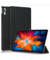 Lenovo Tab P11 Pro Hoes Tri-Fold Book Case Kunstleer Zwart