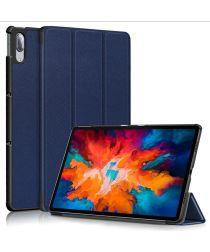 Lenovo Tab P11 Pro Hoes Tri-Fold Book Case Kunstleer Blauw
