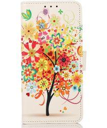 Motorola Edge 20 Lite Hoesje Portemonnee met Flower Print