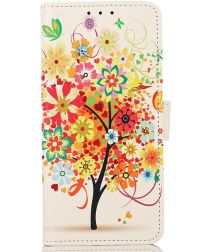 Motorola Edge 20/20 Pro Hoesje Portemonnee Book Case Tree Print