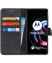 KHAZNEH Motorola Edge 20 / 20 Pro Hoesje Wallet Book Case Zwart