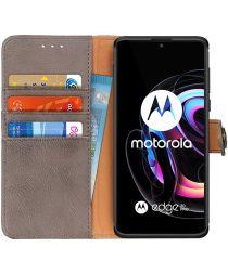 KHAZNEH Motorola Edge 20 / 20 Pro Hoesje Wallet Book Case Grijs