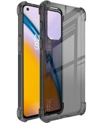 OnePlus Nord 2 5G Hoesje Dun TPU + Screen Protector Transparant Zwart