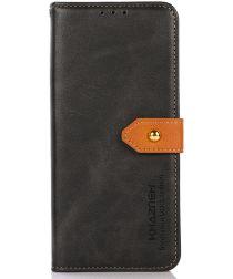 KHAZNEH Nokia XR20 Hoesje Wallet Book Case Kunstleer Zwart
