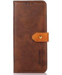 KHAZNEH Nokia XR20 Hoesje Wallet Book Case Kunstleer Bruin