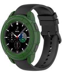 Samsung Galaxy Watch 4 Classic 46MM Hoesje TPU met Bezel Ring Groen