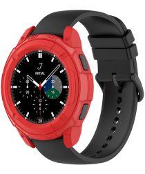 Samsung Galaxy Watch 4 Classic 46MM Hoesje TPU met Bezel Ring Rood