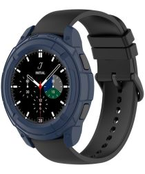 Samsung Galaxy Watch 4 Classic 46MM Hoesje TPU met Bezel Ring Blauw