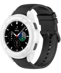 Samsung Galaxy Watch 4 Classic 46MM Hoesje TPU met Bezel Ring Wit