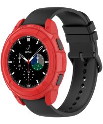 Samsung Galaxy Watch 4 Classic 42MM Hoesje TPU met Bezel Ring Rood