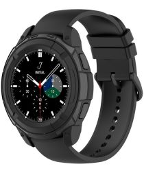 Samsung Galaxy Watch 4 Classic 42MM Hoesje TPU met Bezel Ring Zwart