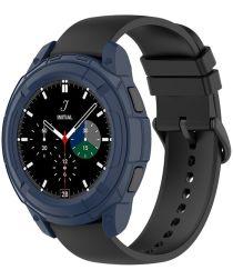 Samsung Galaxy Watch 4 Classic 42MM Hoesje TPU met Bezel Ring Blauw