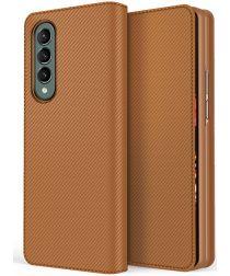 Samsung Galaxy Z Fold 3 Hoesje 2-in-1 Book Case en Back Cover Bruin
