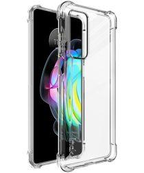IMAK Motorola Edge 20 Hoesje + Screenprotector Transparant