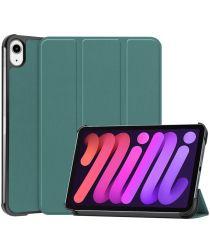 Apple iPad Mini 6 Hoesje Tri-Fold Book Case met Standaard Groen