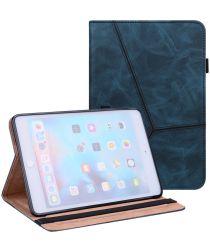 Apple iPad Mini 6 Hoes Tri-Fold Portemonnee Book Case Blauw