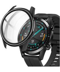 Huawei Watch GT 2 42MM Hoesje Hard Plastic met Tempered Glass Zwart