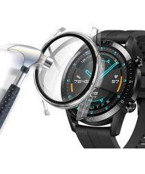Huawei Watch GT 2 42MM Hoesje Hard Plastic met Tempered Glass Clear