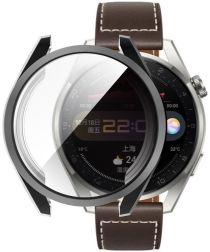 Huawei Watch 3 Pro Hoesje Hard Plastic met Tempered Glass Zwart