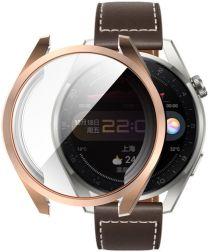 Huawei Watch 3 Pro Hoesje Hard Plastic met Tempered Glass Roze