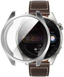 Huawei Watch 3 Pro Hoesje Hard Plastic met Tempered Glass Zilver