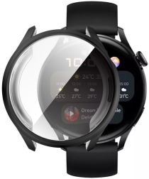 Huawei Watch 3 Hoesje Hard Plastic Bumper met Tempered Glass Zwart
