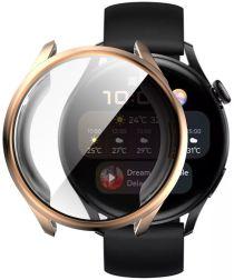 Huawei Watch 3 Hoesje Hard Plastic Bumper met Tempered Glass Roze